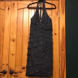 Gorgeous deep gray halter dress